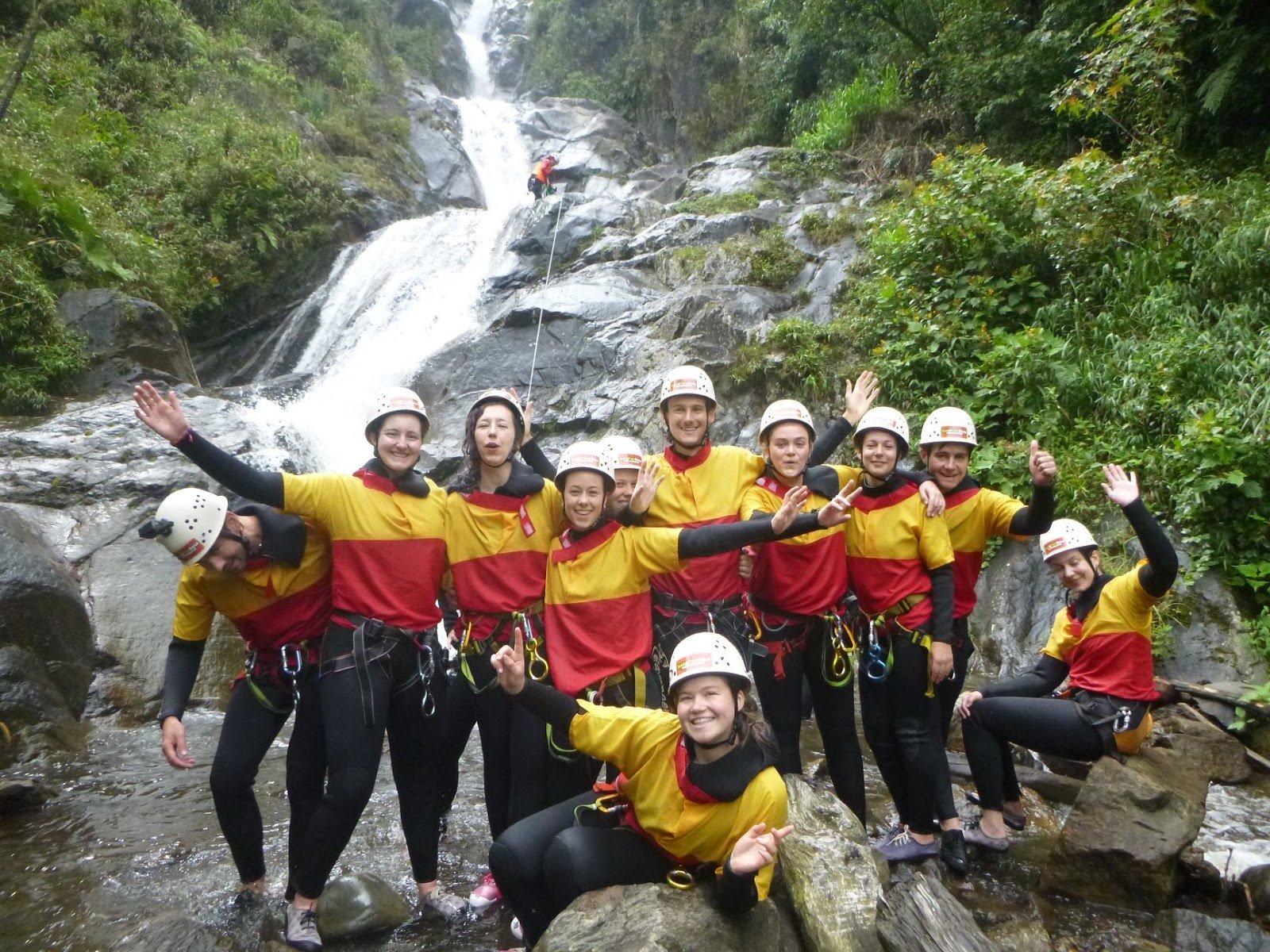 banos group pic waterfall