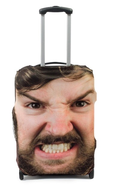 face-luggage-cover